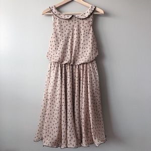 Flowy nude dress with floral pattern size 10